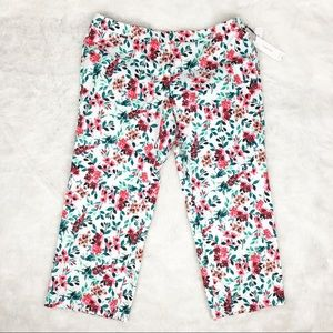 NWT Calvin Klein Floral Highline Cropped Pants